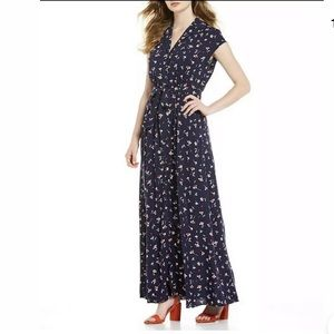 Draper James Good Shirt Floral Maxi Dress F17